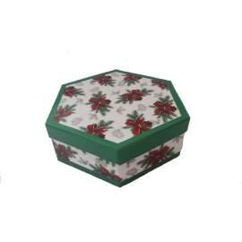 Karácsonyi gömb díszdobozban- 7 db