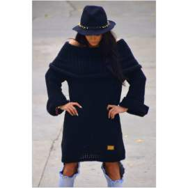 Hosszú pulóver-fekete