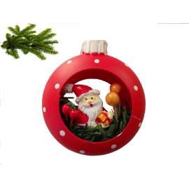 Karácsonyi dísz-karika mikulással-8cm