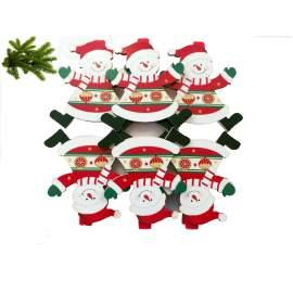 Karácsonyi dekoráció szett -hóember-6db