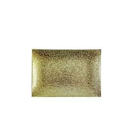 Üvegtál arany 18X11 cm