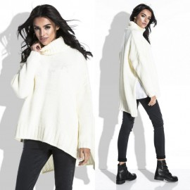 Kötött ecrü pulóver